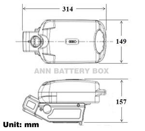 Image 3 - Ücretsiz kargo 36V lityum pil kutusu e bike pil kutusu 36V küçük kurbağa pil kutusu/vaka dahil değildir pil