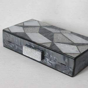 Image 3 - 新ファッション女性ブランド高級黒銀イブニングバッグパーティーウエディング結婚式のハンドバッグヴィンテージカジュアルな女性ボックスクラッチ財布