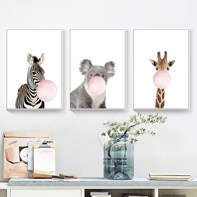 Zebra Animal Prints Wall Art