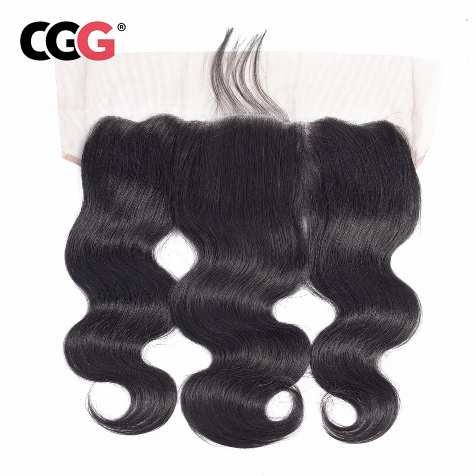 CGG Hair-Extensions Lace-Frontal 13X4 Weaves Human-Hair Body-Wave Natural-Color Sew-In