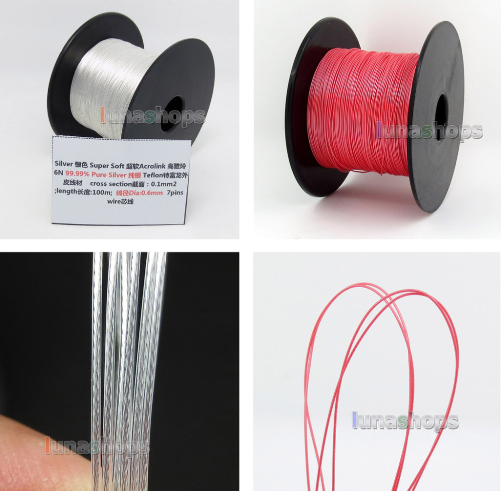 LN004429 100m 30AWG Acrolink Pure Silver 99 9 Signal Tefl Wire Cable 7 0 1mm2 Dia