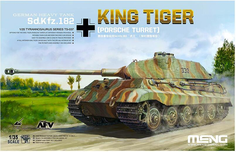 RealTS Meng Model 1/35 TS-037 German Sd.kfz.182 King Tiger Por Sche Turret