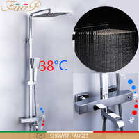 FAOP shower Faucet thermostatic bathroom faucet thermostatic mixer rainfall shower set thermostat mixer tap shower system