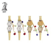 SY 1pc Fashion Creative Handmade Inlaid Jewelry Metal Tobacco Hookah Mouth Shisha Narguile Filter Mouthpiece