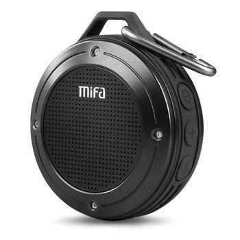 Altavoz portátil estéreo MIFA F10 con Bluetooth 4,0 inalámbrico para exteriores micrófono integrado resistente a los golpes IPX6 altavoz impermeable con bajo