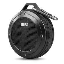 Alto falante à prova dipágua ipx6 da resistência de choque do microfone embutido sem fio exterior do orador portátil estereofônico de mifa f10 bluetooth com baixo