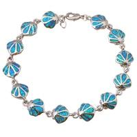 Top Quality Wholesale Retail Blue Fire Opal 925 Sterling Silver Fashion Jewelry Lady S Bracelets Nice