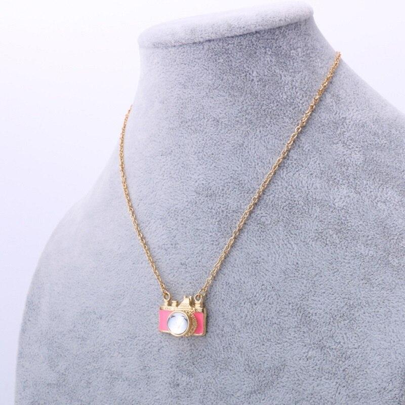 Zinc Alloy Trendy Necklances Camera Pendant Best Gift For Lover Women Unisex Black Colour Pink colour