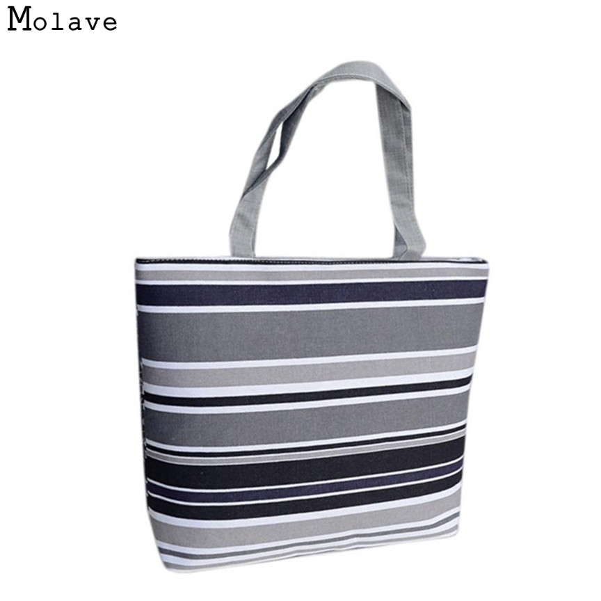 Naivety Women Handbag Geometric Printing Canvas Bag Shoulder Shopping Tote Shopper Zipper Fabric Purse 28S7517 drop shipping