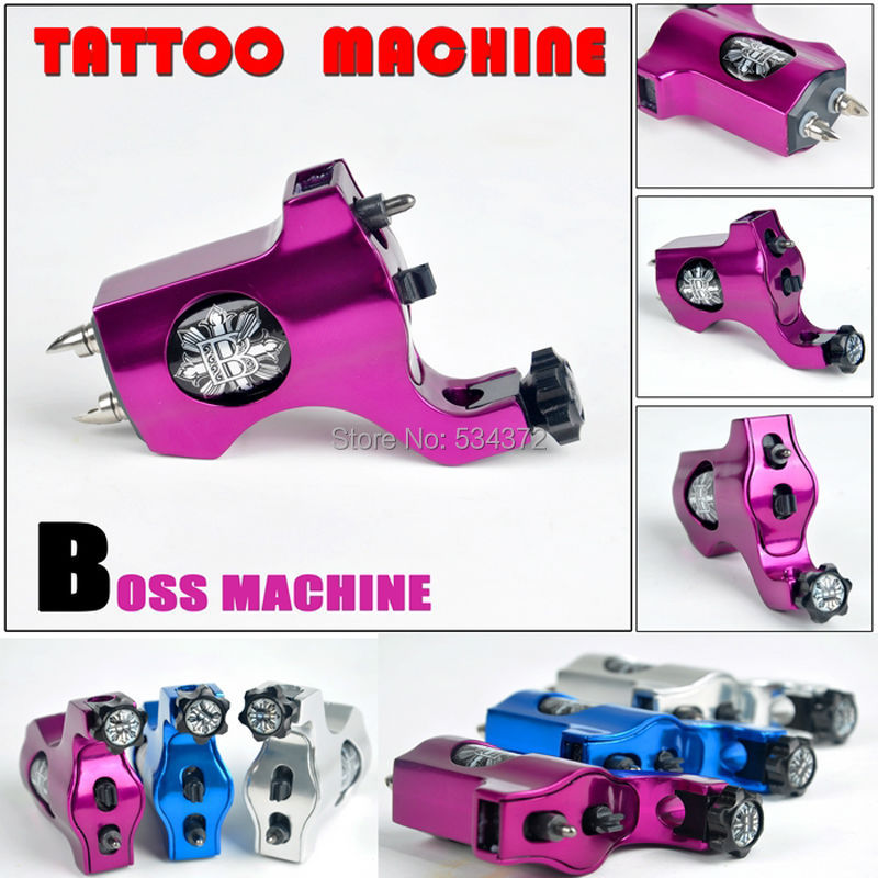 BOSS Taiwan Motor Tattoo Gun Strong Power  Rotary Tattoo Machine + Clip Cord Free Shipping high quality primus sunskin rotary machine gun kit taiwan motor black precise rotary tattoo machine loom tool free shipping