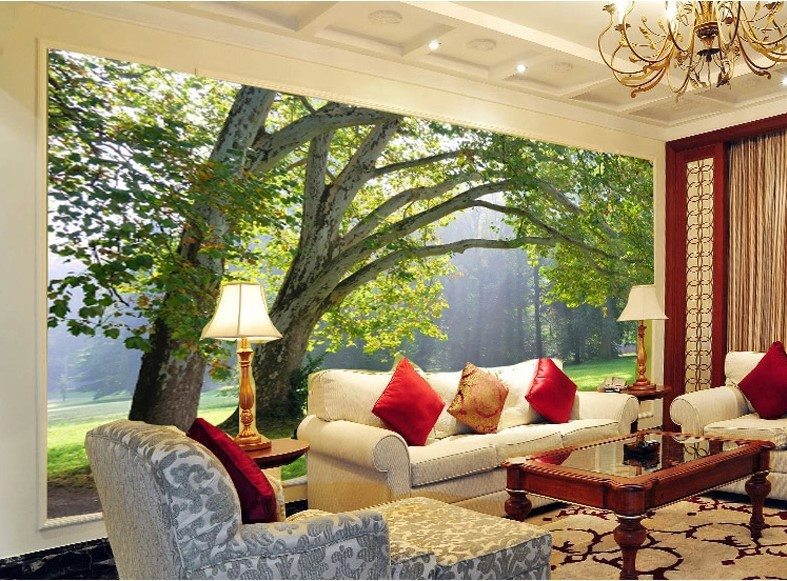 Superb Beibehang Custom 3d Photo Wallpaper Three Dimensional Forest TV Background  Wallpaper For Wall 3d Mural Wallpaper For Living Room In Wallpapers From  Home ... Part 29