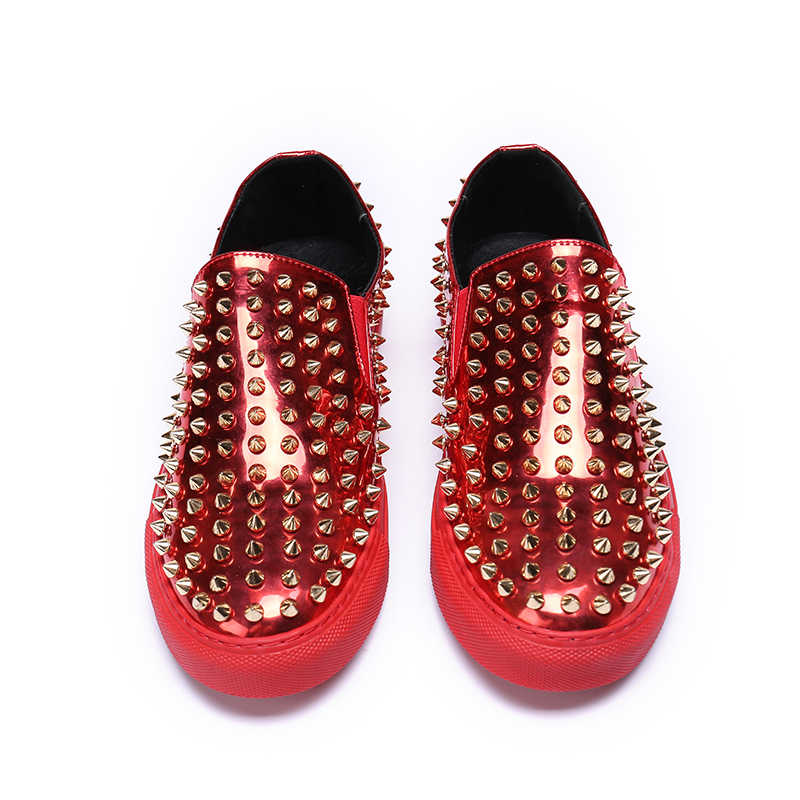 145c8b0371 Wholesale Dropshipping Luxury Brand loafers Red bottom sneakers spiked men  shoes Top Quality Leather Casual designer trainers