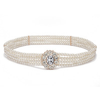 חגורות חרוז לבן פנינה אופנה סגנון אופנה שרשרת מתכת נשים אבנטי דק קישוט מחוך חגורת יהלומים