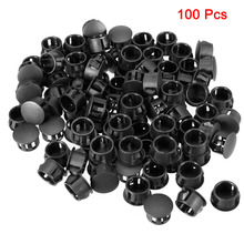 Uxcell 100pcs White/Black Mounting Diameter 14mm 9.5mm Universal Nylon Round Snap Locking Panel Hole Cover for Electrical