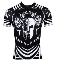 Free Shipping Spartacus Men Short Sleeve Cycling Jersey Comfortable Bicycle Top Polyester Biking Jersey Black Cycling