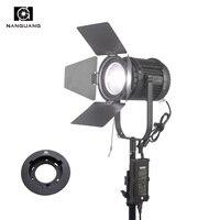 100 Вт светодиодный Фокус Френеля свет 5600 К Плавная затемнения DMX512 студийный свет + Bowens для Softbox Стандартный отражатель snoot