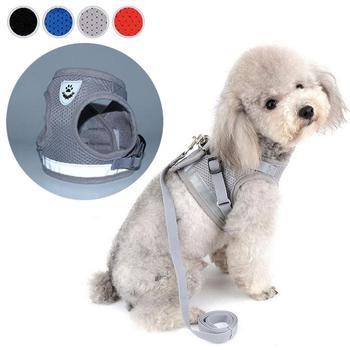 Reflective Dog Cat Harness Pet Adjustable Vest Walking