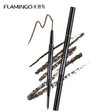 Free shipping Eyebrow Enhancers Brand Flamingo 1.5mm fine refill waterproof non blooming with brush head eyebrow pencil B1001