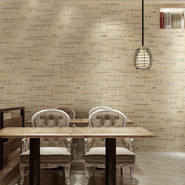 fashion letters engels woorden muur papierrol vinyl behang moderne zwart beige bruin voor coffeeshop woonkamer slaapkamer