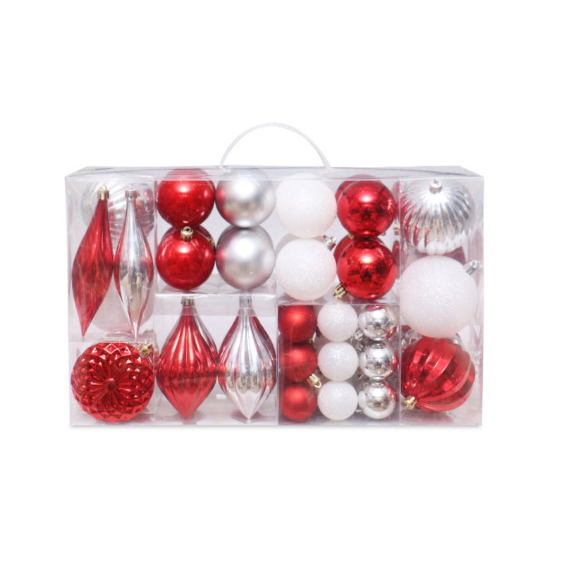 61pc color painted Christmas tree decoration ball gift bag Christmas party hanging ball home Christmas gift decoration in Pendant Drop Ornaments from Home Garden