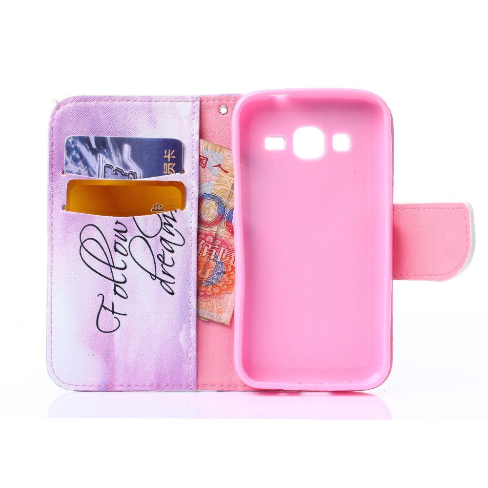Cute Cartoon Owl Wallet Leather Flip Fundas Case For Samsung Galaxy J1 J100/ J1 Ace J110/ J2 J200/ J5 J500/ J7 J700 2015 Cover