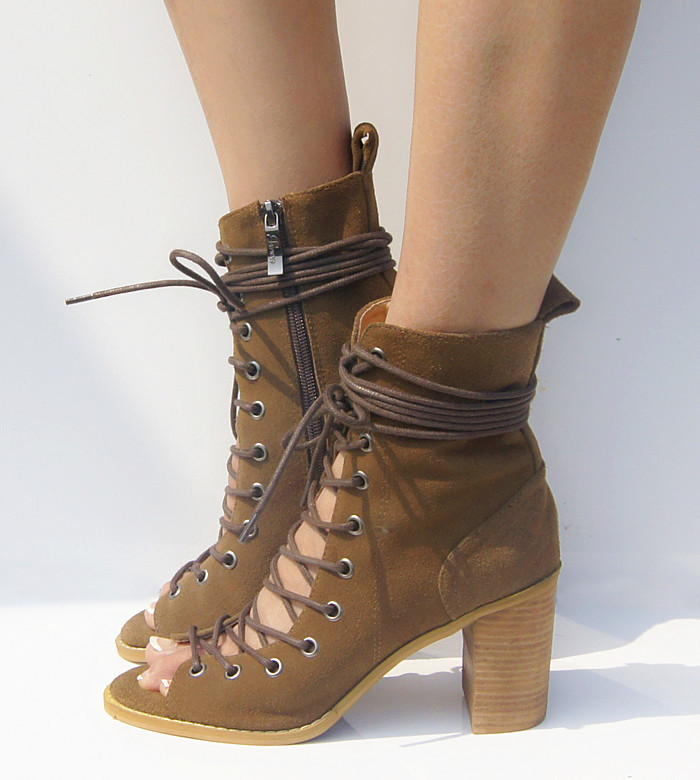 Black Faux Suede Knee High Platform High Heel Boots