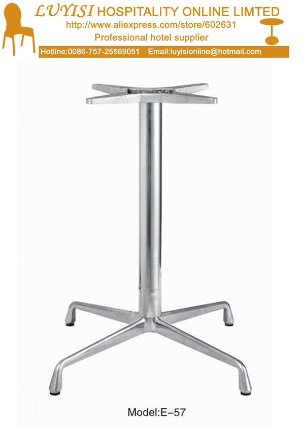 Quality Cross Shaped Stainless Steel  Table Basement Good For Indoor And Outdoor Kd Packing 1pc/carton Fast Delivery