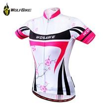 WOSAWE 2015 Women New Cycling Bike Short Sleeve Top Shirt Clothing Bicycle Sportwear Jersey S-XL Free Shipping все цены