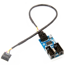 Kabel przedłużający kabel 9 Pin kabel splittera Port Multilier USB 2.0 1 do 2 nagłówek USB adapter złącza stabilne męski na żeński