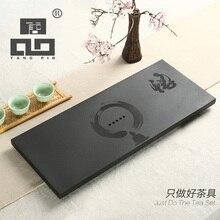 цена на TANGPIN 2017 new arrival black black wujin stone tea tray tea board kung fu tea tray table stone