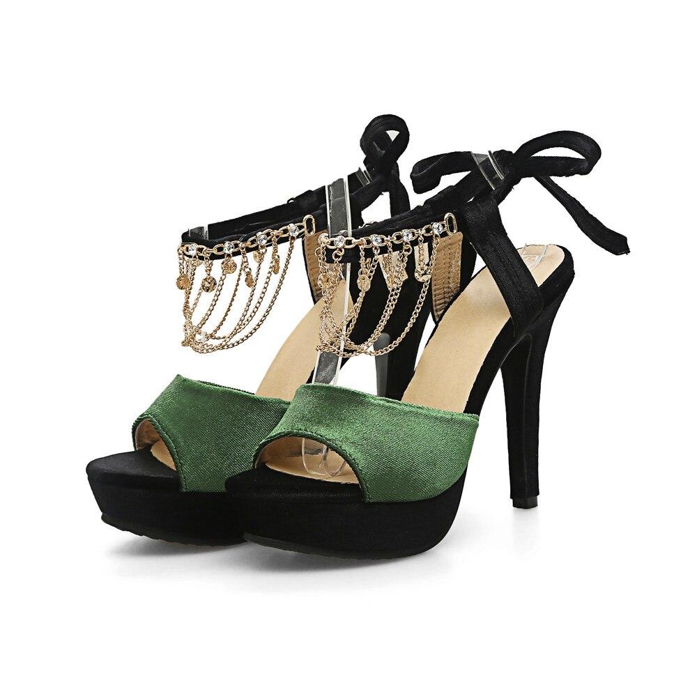 Cm Sandalias 3 5 43 Flecos Con Talones Spike Moda Negro 33 Hebilla Militar Zapatos 2018 Estilo Nuevo Verano verde Calidad Sexy Alta Mujeres Smeeroon Tamaño 7XqvPZxTTw