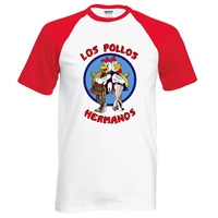New Arrival Breaking Bad LOS POLLOS Hermanos T Shirt Chicken Brothers 2016 Summer 100 Cotton Cartoon