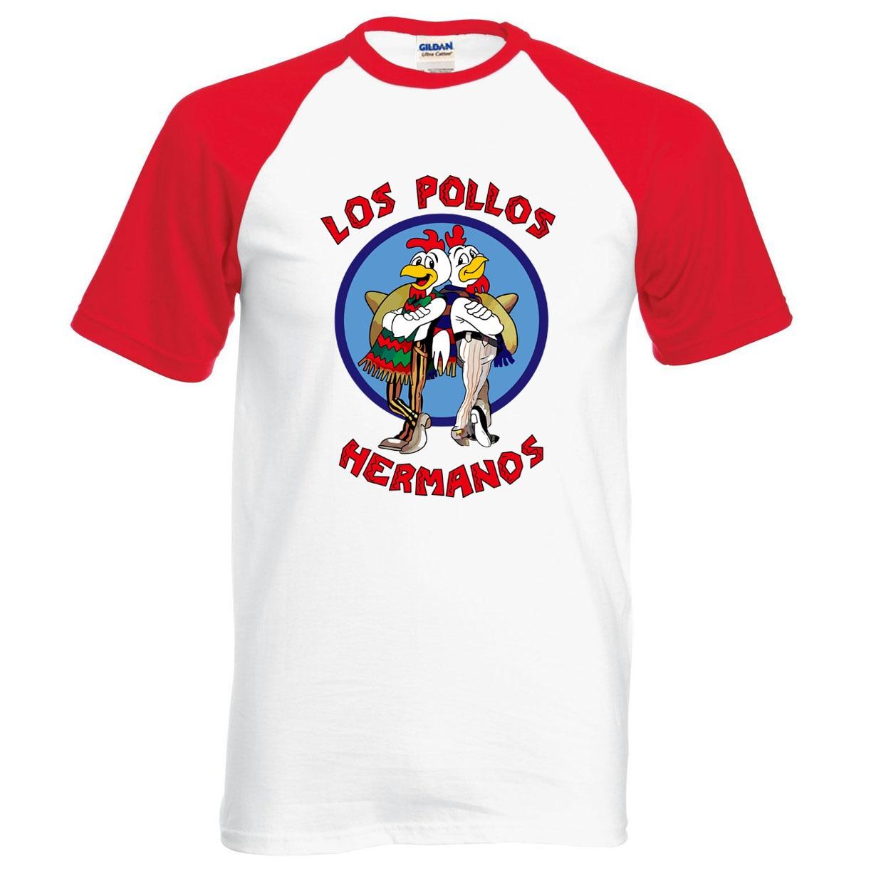 New Arrival Breaking Bad LOS POLLOS Hermanos T Shirt Chicken Brothers 2019 Summer 100% Cotton Cartoon Casual Raglan Tee For Fans