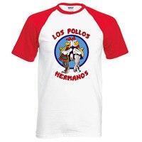 New Arrival Breaking Bad LOS POLLOS Hermanos T Shirt Chicken Brothers 2016 Summer 100 Cotton Cartoon