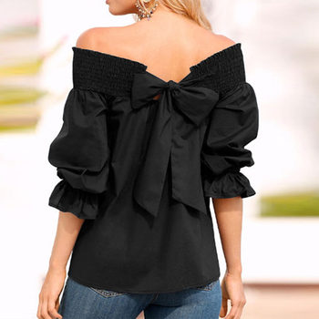 Sexy Strapless Off Shoulder Summer Top 1