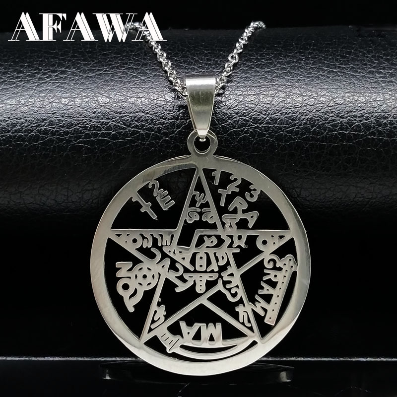 Star Of David Stainless Steel Necklace For Women Men Silver Color Big Star Statement Necklaces Jewish Jewelry Collares N74122