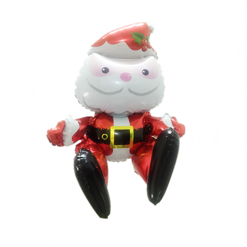 New 3D Christmas Foil Balloons Santa Claus Balls Kids Inflatable Classic  Toys Merry Christmas Decorations Air