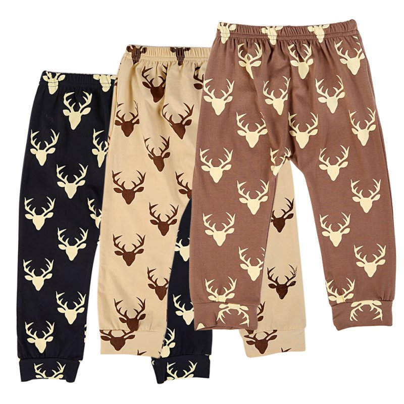Nya 2016 Toddler Kids Baby Boys Girls Deer Pattern Bottom Leggings Harem Byxor Byxor För Barn