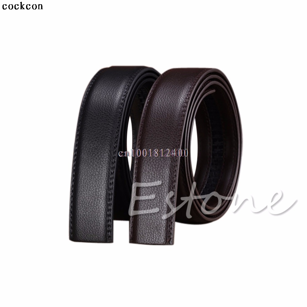 1PC Belt Luxury Men s Leather Automatic Ribbon Waist Strap Belt Without Buckle Waistband