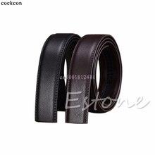 "1PC Belt Luxury Men""s Leather Automatic Ribbon Waist Strap Belt Without Buckle Waistband"
