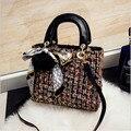 The latest fashion women clutch woolen high-quality women's handbags large-capacity women's shopping bags luxury bag