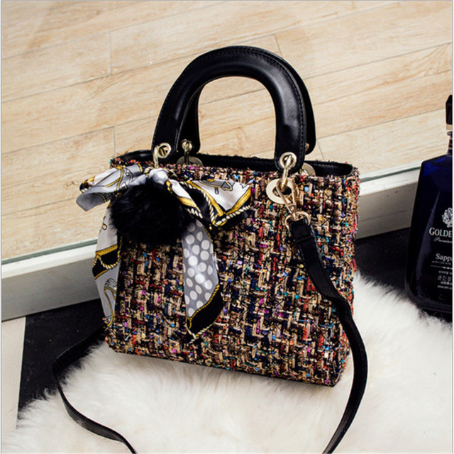 The Latest Fashion Women Clutch Woolen High Quality S Handbags Large Capacity Ping