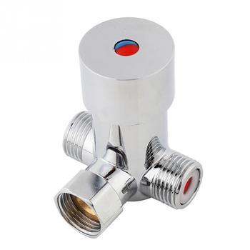 цена на G1/2 Hot Cold Water Mixing Valve Thermostatic Mixer Temperature Control Mixing Valve Sensor for Bathroom Shower  Faucet Taps