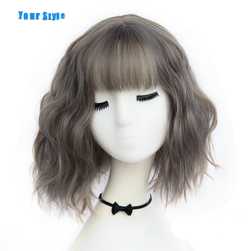 Your Style 43 Colors Short Wigs Natural Hair For Women Black  Brown Gray Synthetic African American Wigs High Temperature Fiber