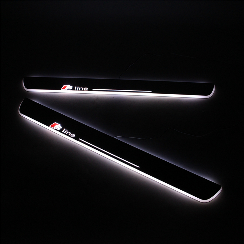 Audi A4 2015 Led Lights: Led Door Sill For Audi A4 S4 RS4 B9 2013 2014 2015 LED