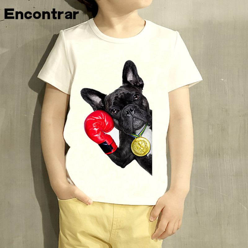 d0651cb10d2b Kids Champion French Bulldog Cartoon Design T Shirt Boys/Girls Short Sleeve  Tops Children Cute T Shirt,HKP2201-in T-Shirts from Mother & Kids on ...