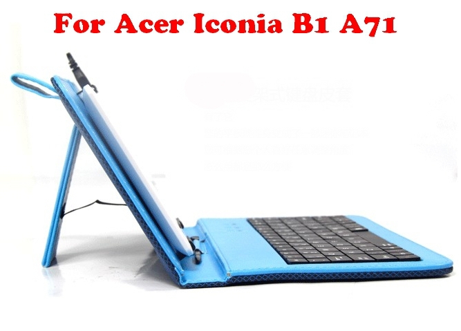 Fashion Design For Acer Iconia B1 A71 keyboard Case Micro USB