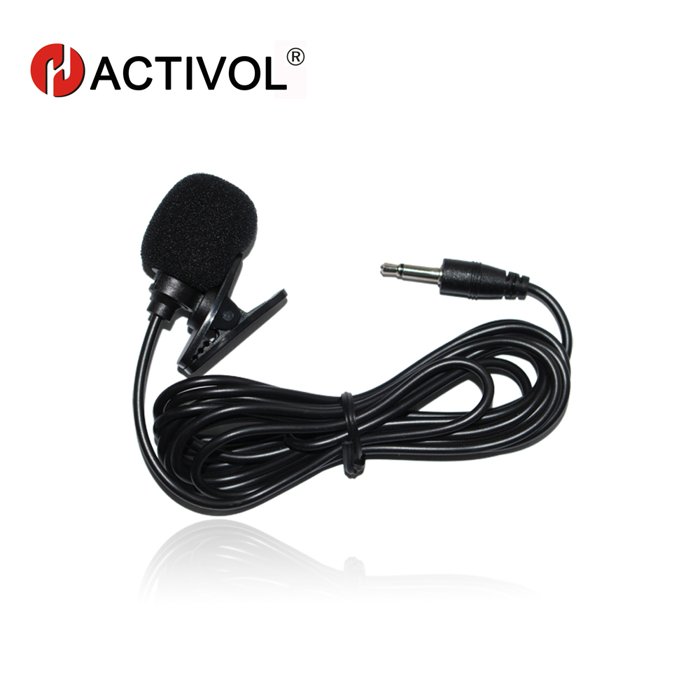 Speciale Car Audio Microfoon 3,5 mm Jack Plug Stereo Mic Mini Wired Externe Car Microfoon Voor Auto DVD-speler 100 cm lang