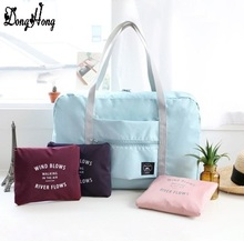 2017 high quality folding travel bag nylon travel bags hand luggage for men and women new fashion duffle bag travel