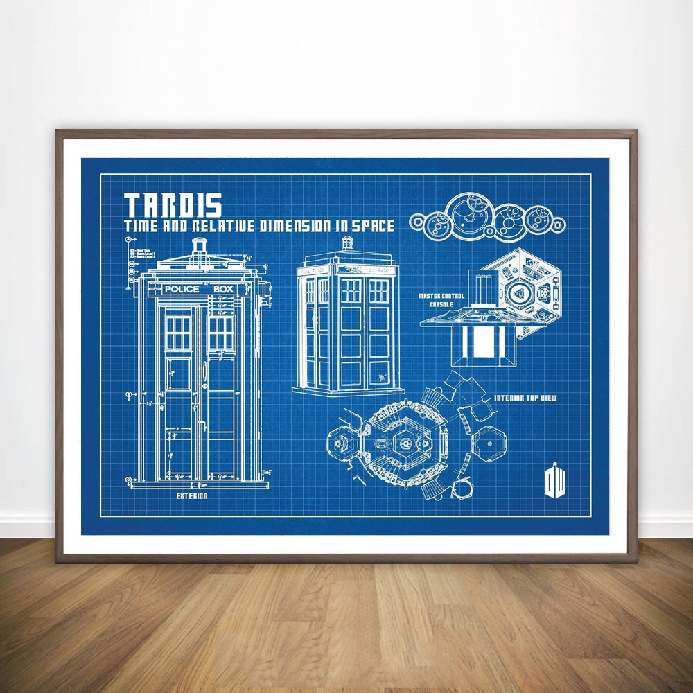 Doctor who tardis blueprint graphic wall art paint wall decor canvas doctor who tardis blueprint graphic wall art paint wall decor canvas prints canvas art poster oil paintings no frame in painting calligraphy from home malvernweather Gallery